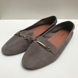 TOPSHOP Grey Suede Loafers